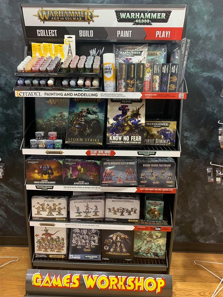 Warhammer and Citadel Display at Anime and Things
